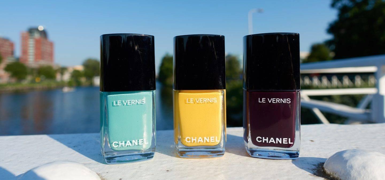Chanel 590 - Verde Pastello, Chanel 592 - Giallo Napoli, Chanel 628 - Prune Dramatique
